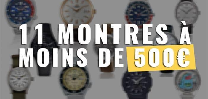 Quelle montre automatique pour 500 € ?